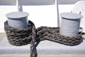 Detail of rope on a ship